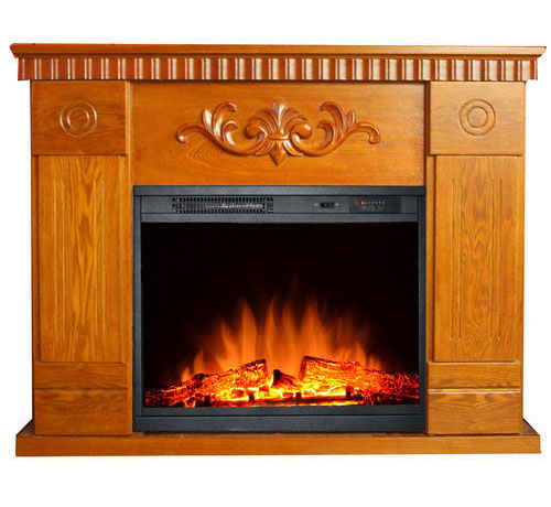 Wooden Mantel Electric Fireplace